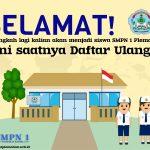 Pendaftaran ulang online PPDB SMP Tahun Ajaran 2021-2022