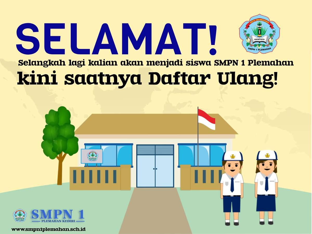 Pengumuman dan pendaftaran ulang online PPDB SMP Negeri 1 Plemahan